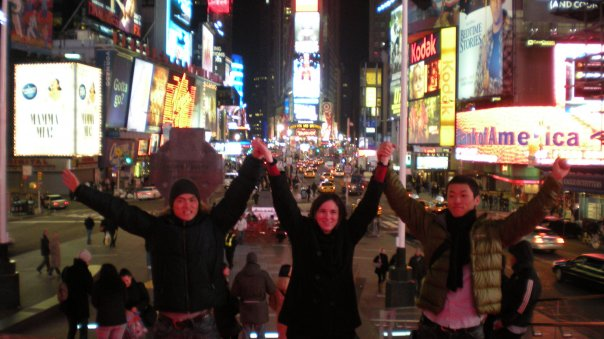 At Times Square!